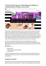 Tiered Loyalty Programs- What Makes the Sephora's Loyalty Rewards Program Successful?