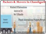 Best Packers and Movers in Chandigarh