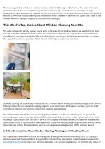 5 Qualities The Best People In The Cleaning Window Screens Industry Tend To Have