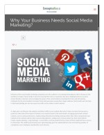 Why Your Business Needs Social Media Marketing?