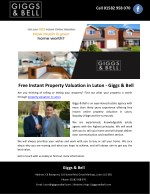 Free Instant Property Valuation in Luton - Giggs & Bell