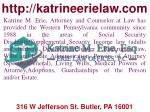 Social security disability claims attorney and social security claim appeals at PA