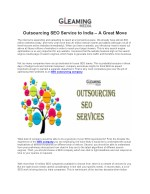 Outsourcing SEO Service to India – A Great Move