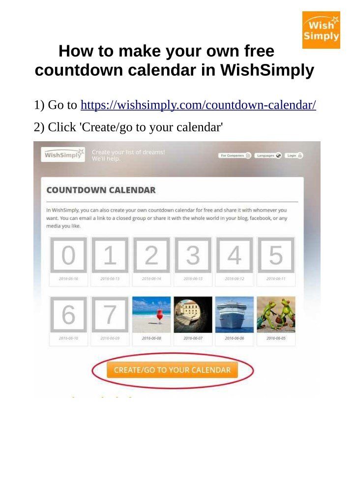 how to make your own free countdown calendar n.