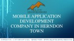 Mobile application development company in Herndon city.