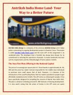 Antriksh India Home Land- Your Way to a Better Future