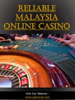 Reliable Malaysia Online Casino