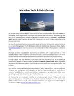 Marvelous Yacht & Yachts Services