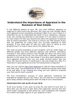 Understand the Importance of Appraisal in the Business of Real Estate