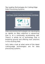 Top Leading Technologies for Cutting-Edge Data Processing Systems