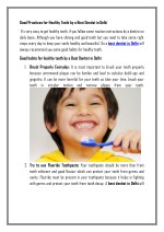 Good Practices for Healthy Teeth by a Best Dentist in Delhi