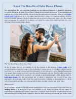 Know The Benefits of Salsa Dance Classes
