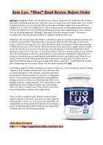 Keto Lux- *Must* Read Review Before Order