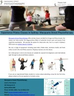 Experience Pilates Classes in Sydney- Macquarie Street Physiotherapy