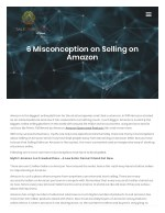 6 Misconception on Selling on Amazon