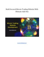 Build your bitcoin trading website with ultimate add-ons