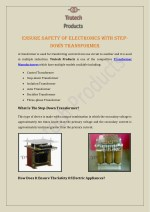 Ensure Safety Of Electronics With Step-Down Transformer