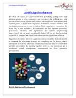 Mobile Application development Company in Pune India
