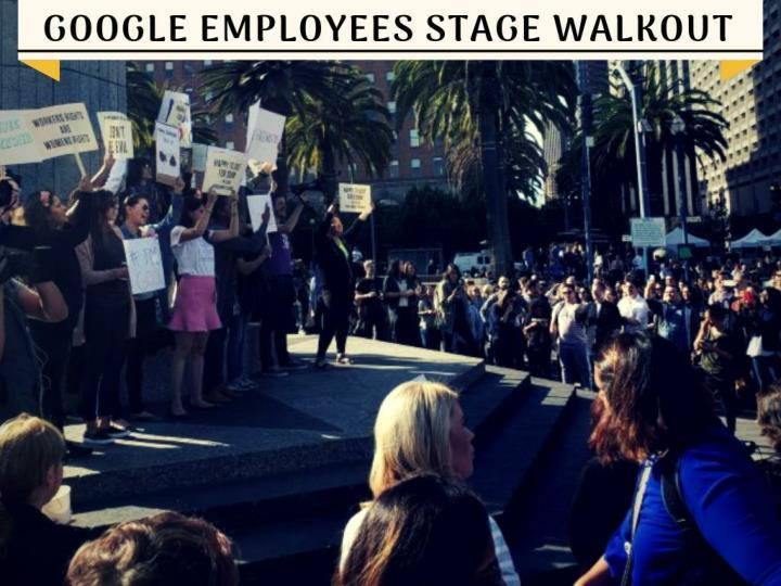 google employees stage walkout n.