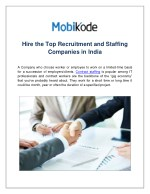 Hire the Top Recruitment and Staffing Companies in India