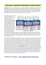Keto Ultra: Warnings, Benefits & Side Effects!