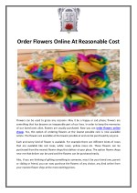 Order Flowers Online At Reasonable Cost