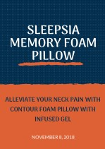 Alleviate your Neck Pain with Contour Foam Pillow with Infused Gel