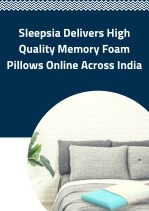 Sleepsia Delivers High-quality Memory Foam Pillows Online Across India