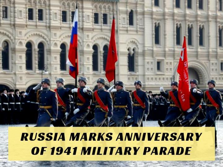 russia marks anniversary of 1941 military parade n.