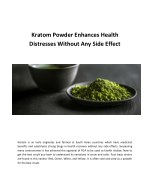 Kratom Powder Enhances Health Distresses Without Any Side Effect