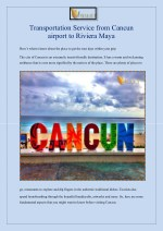 Transportation Service from Cancun airport to Riviera Maya