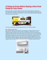 3 Things to Know Before Buying a New Heat Pump for Your Home