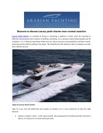 Reasons to choose Luxury yacht charter over normal vacation