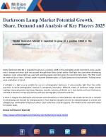 Darkroom Lamp Market Potential Growth, Share, Demand and Analysis of Key Players 2025