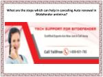 What are the steps which can help in canceling Auto renewal in Bitdefender antivirus?