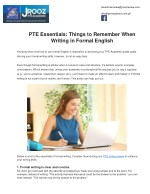 PTE Essentials: Things to Remember When Writing in Formal English