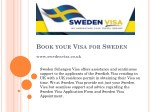 Book your Fast and Reliable Sweden Visa Appointment by Today