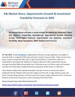 Silk Market Share, Opportunistic Growth & Investment Feasibility Forecasts to 2025