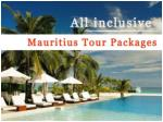 Mauritius Holiday Tour Packages
