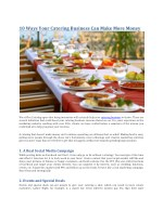 10 Ways Your Catering Business Can Make More Money