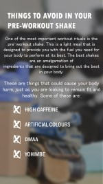 4 Things to Avoid in Your Pre-Workout Shake