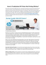 How to Troubleshoot HP Printer Not Printing Glitches?