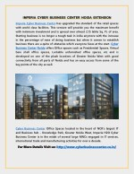 Imperia Cyber Business Center Noida Extension