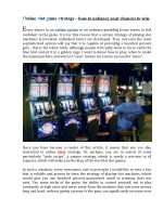 Slots online - some proven to work strategies