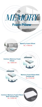 Purchase High-Quality Gel Memory Foam Pillow India from Sleepsia!
