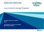 Loss Control for Hunger Programs
