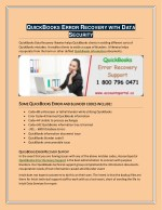 Get QuickBooks Error Recovery with Data Security