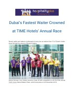 Dubai's Fastest Waiter Crowned at TIME Hotels' Annual Race
