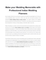Make your Wedding Memorable with Professional Indian Wedding Planners