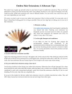 Ombre Hair Extensions: 4 Aftercare Tips